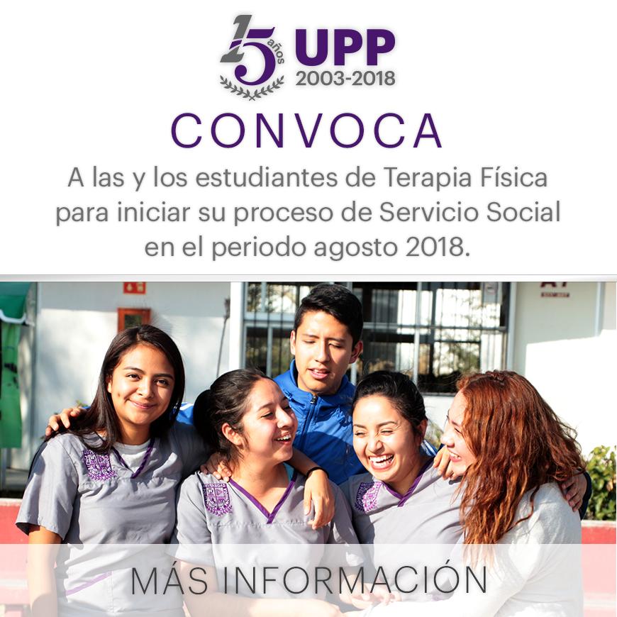 Convocatoria Servicio social Lic. Terapia Física
