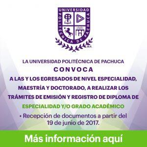 Convocatoria para emisión y registro de Diploma de Especialidad y/o Grado Académico