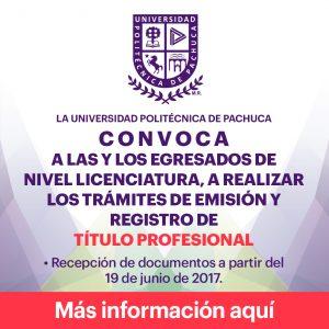 Convocatoria para emisión y registro de Título Profesional